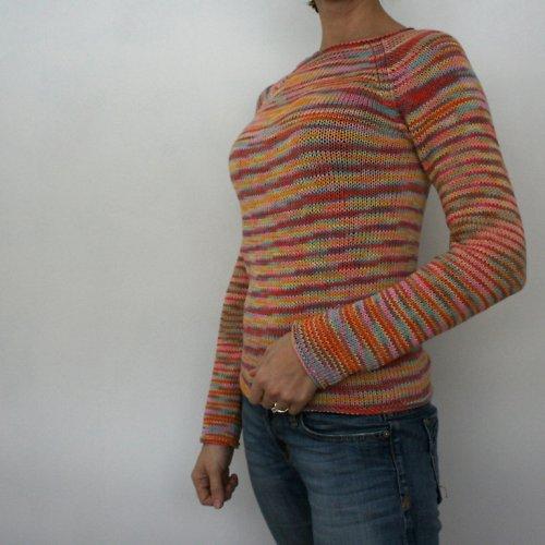 Ručně pletený svetr z bambusové příze