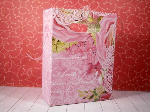 Dárková taštička ( sytě růžová )
