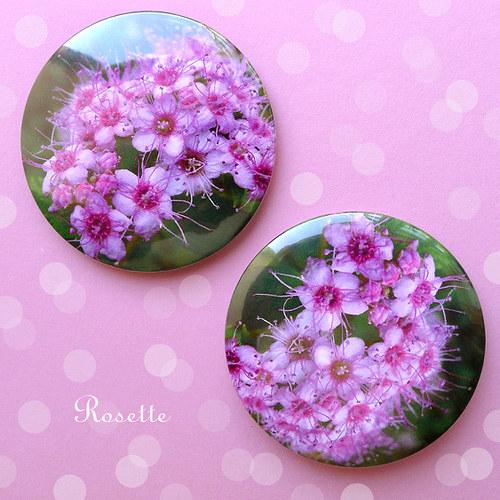 Růžové kartáčky ... - magnet / placka
