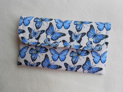 obal na mobil, brýle..... - modrý motýl