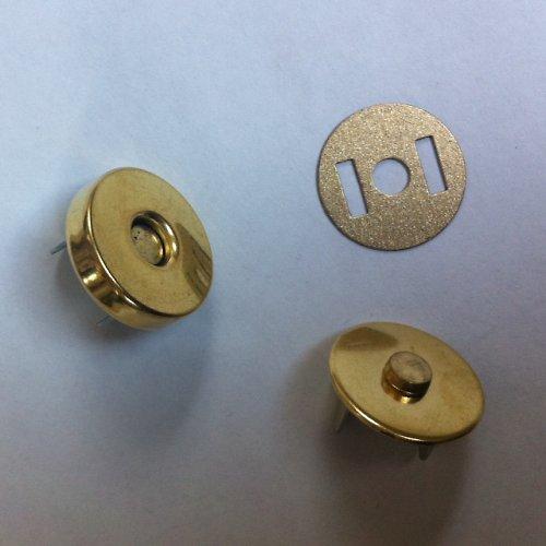 magnetické zapínání 18 mm zlato 2 ks