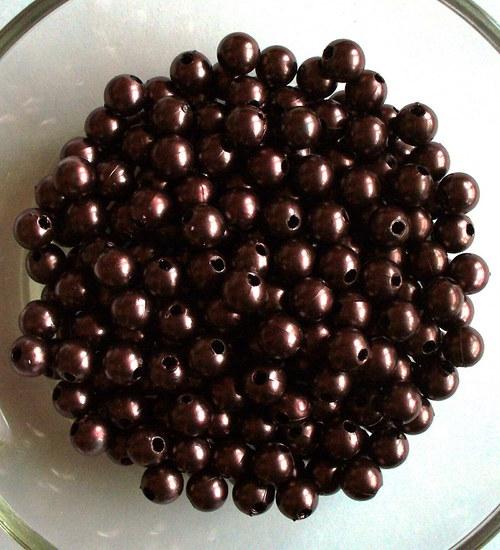 perličky čokoláda 6mm/100ks