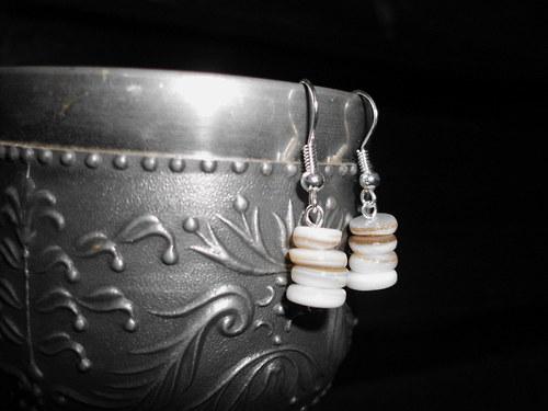 perleťové věžičky NÁUŠNICE