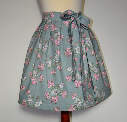 Zavinovací sukně - květy