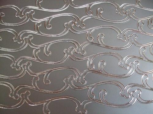 Stříbrné nálepky - bordury