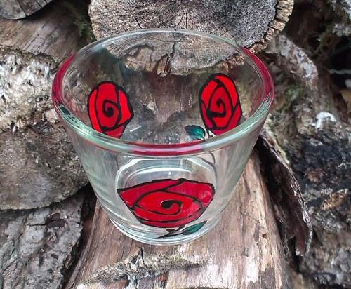 Růže - kalíšek na svíčku