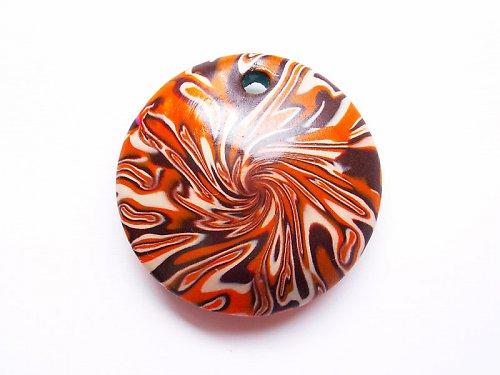 Oranžovo-béžovo-hnědé kolečko ((KOM152))