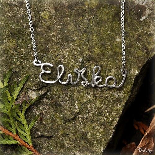 """Náhrdelník s menom / řetízek se jménem \""""Eliška\"""""""