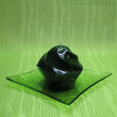 Svíčka dekorativní pětiúhelník zelený - jablko