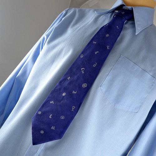 Tmavě modrá počítačová kravata