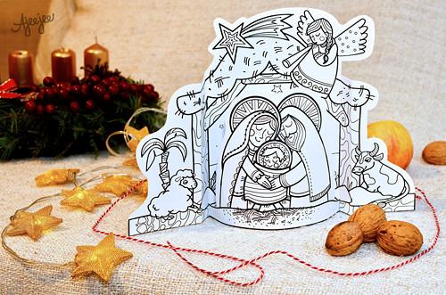 Betlém - vánoční vystřihovánka (K TISKU)