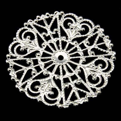 Filigrán stříbrný kruhový, průměr 31mm, 2 ks