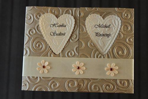 Luxusné svadobné oznámenie - perleťové