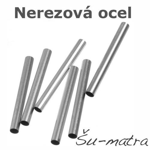 Trubička z nerezové oceli, 15x3 mm (4 ks)