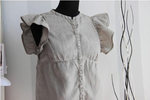 Originální lněná khaki chic blůzka