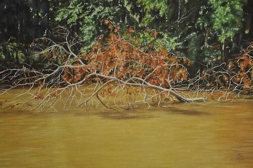 Padlý strom - suchý pastel
