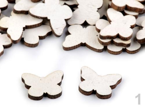 Dřevěný motýl (12ks)