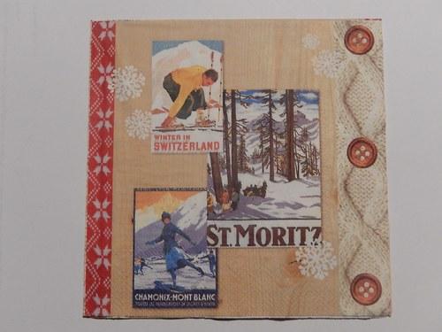 Ubrousek na decoupage - St.Moritz