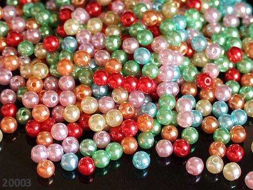 20003 Letní směs akrylových perel 5mm, bal. 50ks!