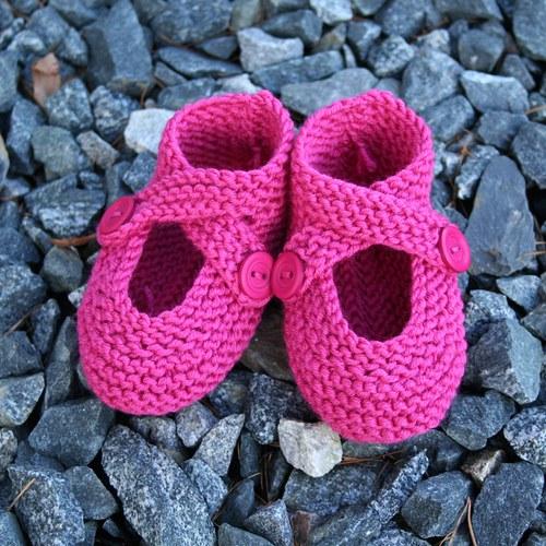 Pletené botičky pro miminko z MERINO vlny