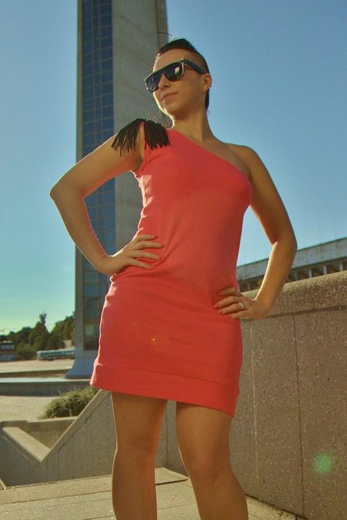 Šaty Miu ( lososové)
