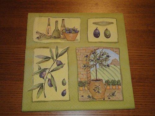 Ubrousek na decoupage - olivovník