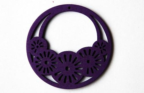 dřevěné kolečko- fialové