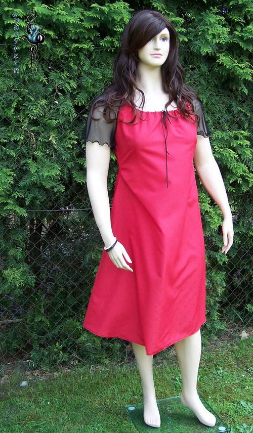 "Šaty ,,Red&Black Romance\""-SLEVA"