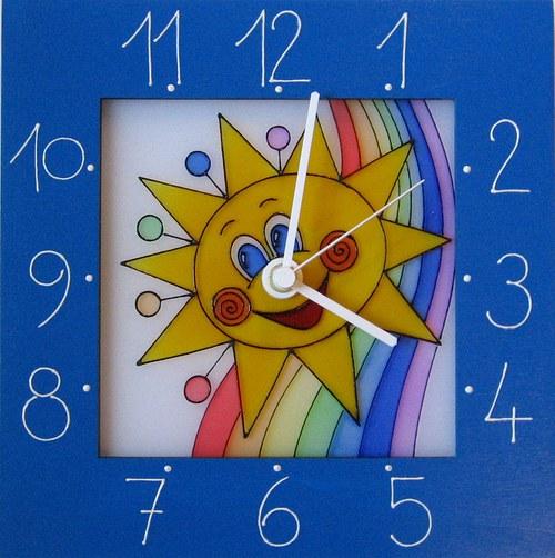 Sluníčko *Cestou duhy - hodiny v rámu 25cm