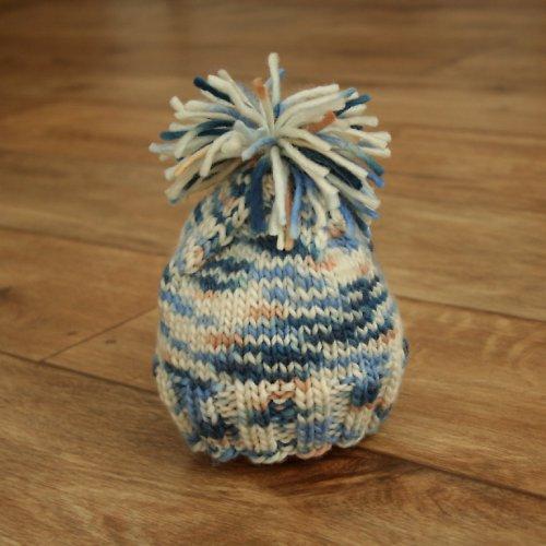 Pletená čepice pro miminko ze 100% MERINO