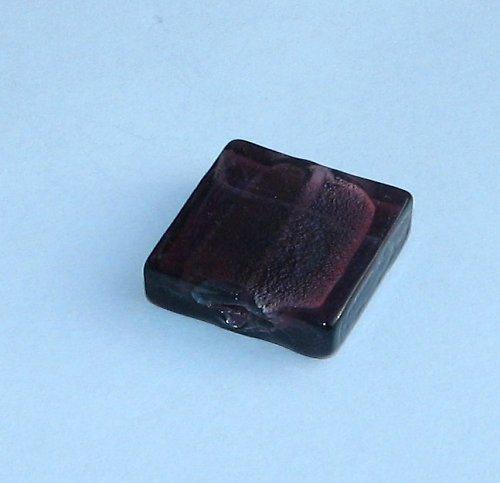 Vinutý čtverec, fialový, 15x15mm, 1ks