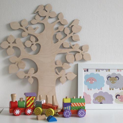 Strom s ptáčky - dekorace