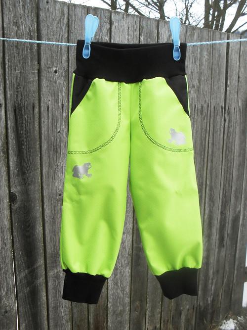 Softshelové kalhoty -limetka