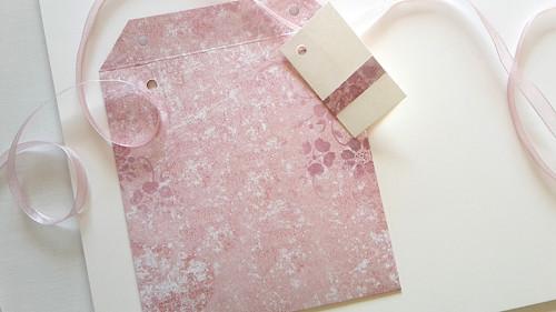 Růžový vzor na růžové II  -  obal na CD 13x14 cm