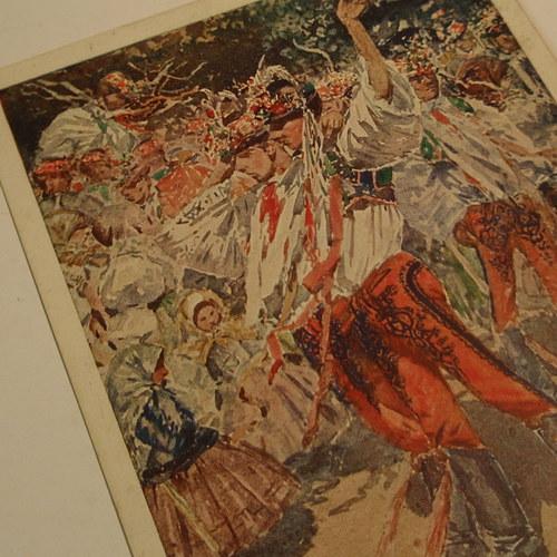 Joža Uprka PARTIE Z LANŽHOTU - pohlednice č. 1153