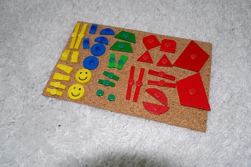 Dřevěné barevné tvary - pouze tvary