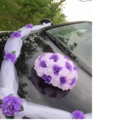 Svatební dekorace,výzdoba na auto - TRS RŮŽÍ,BUKET