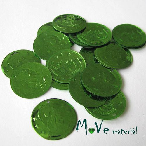 """Plastový penízek \""""Centurion\"""" 18x22mm/20ks, zelený"""