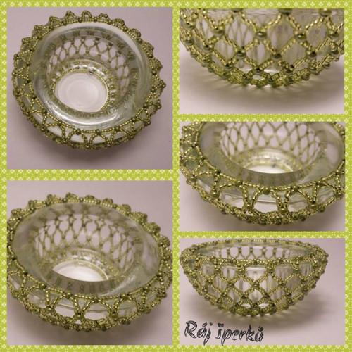 Svícínek na čajovou svíčku světle zelený
