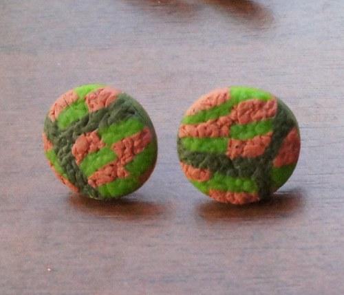 Pecky strukturované zelené - menší