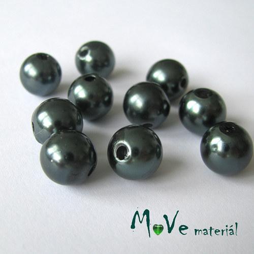 Akrylové voskové perle, 10ks, zelené
