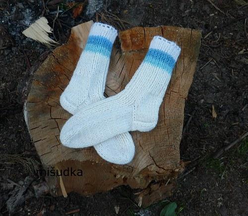 Ponožky jako od maminky -  dětské bílé 31
