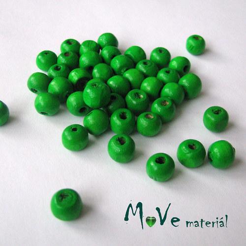 Dřevěný korálek 8x7mm, 7g, neon. zelený