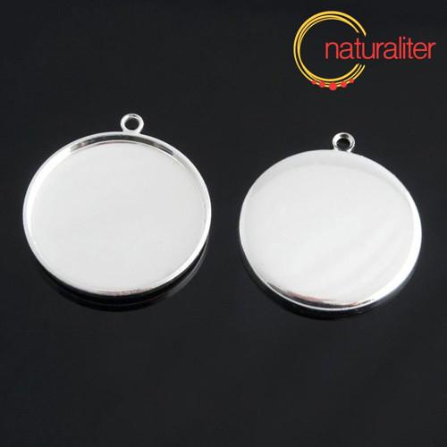 Lůžko kruh 25mm stříbrná barva