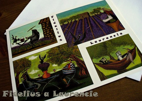 Pohlednice Fidelius a Laurencie v Provence