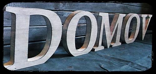 nápis DOMOV - 15 cm