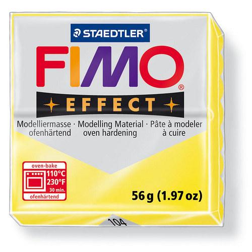 Fimo effect transparentní žlutá 104