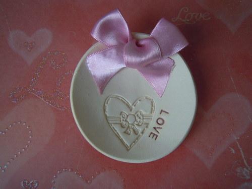SVATEBNÍ talířek na prstýnky - ...LOVE...