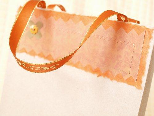 Šitá dárková taštička - oranžová