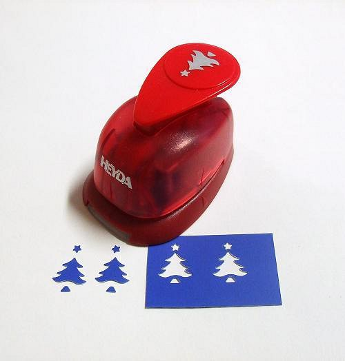 Okrasná děrovačka Vánoční stromeček